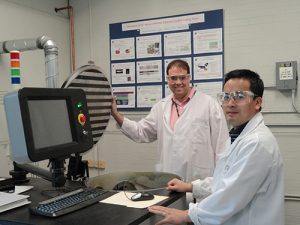 Humberto Gomez Research in diamond coatings at General Motors R&D Center with Dr. Xingcheng Xiao