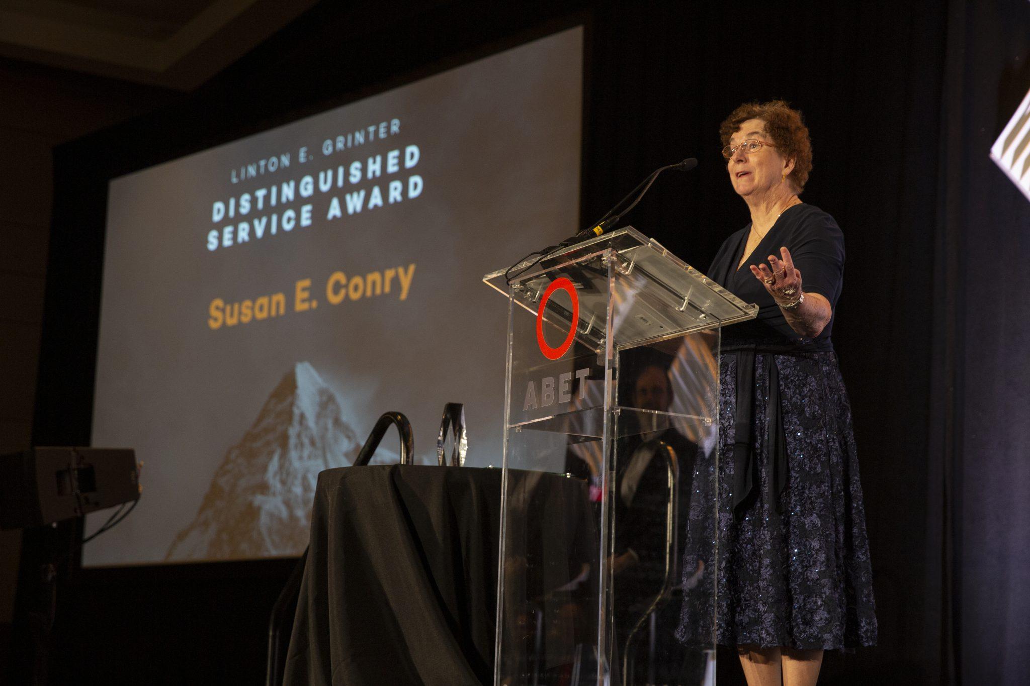 Susan E. Conry, recipient of the 2019 Linton E. Grinter Distinguished Award.